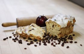 Frosted Apple Raisin Bread