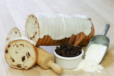 Frosted Cinnamon Raisin Log