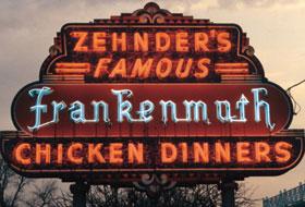 Zehnder's famous neon sign